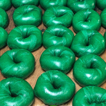 1 Dozen St. Patrick's Day Bagels- Green